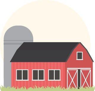 Dairy barn illustration