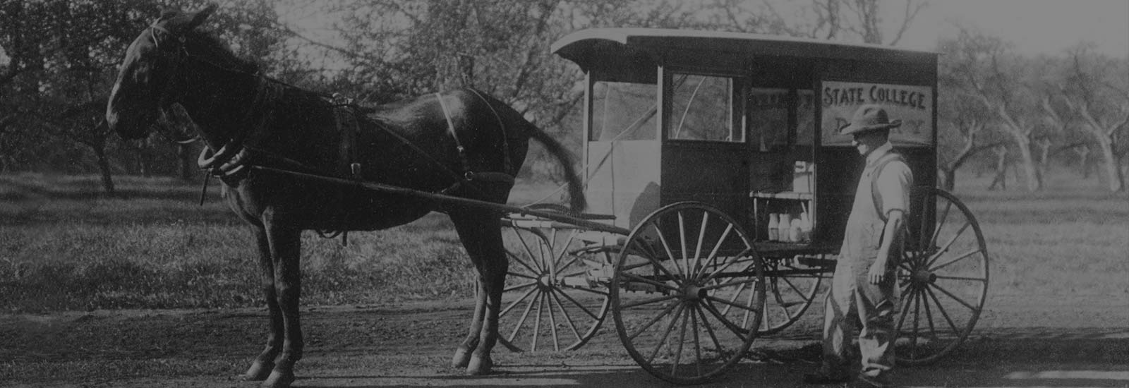 State College Dairy horse delivery wagon